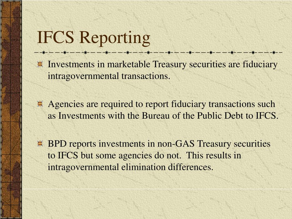 IFCS Reporting