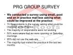 prg group survey