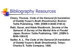 bibliography resources