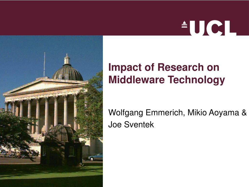 impact of research on middleware technology l.