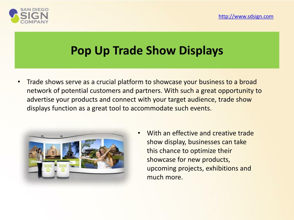 Pop Up Trade Show Displays