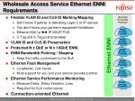 wholesale access service ethernet enni requirements