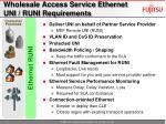 wholesale access service ethernet uni runi requirements