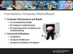 foundations computer maint repair