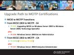 upgrade path to mcitp certifications18