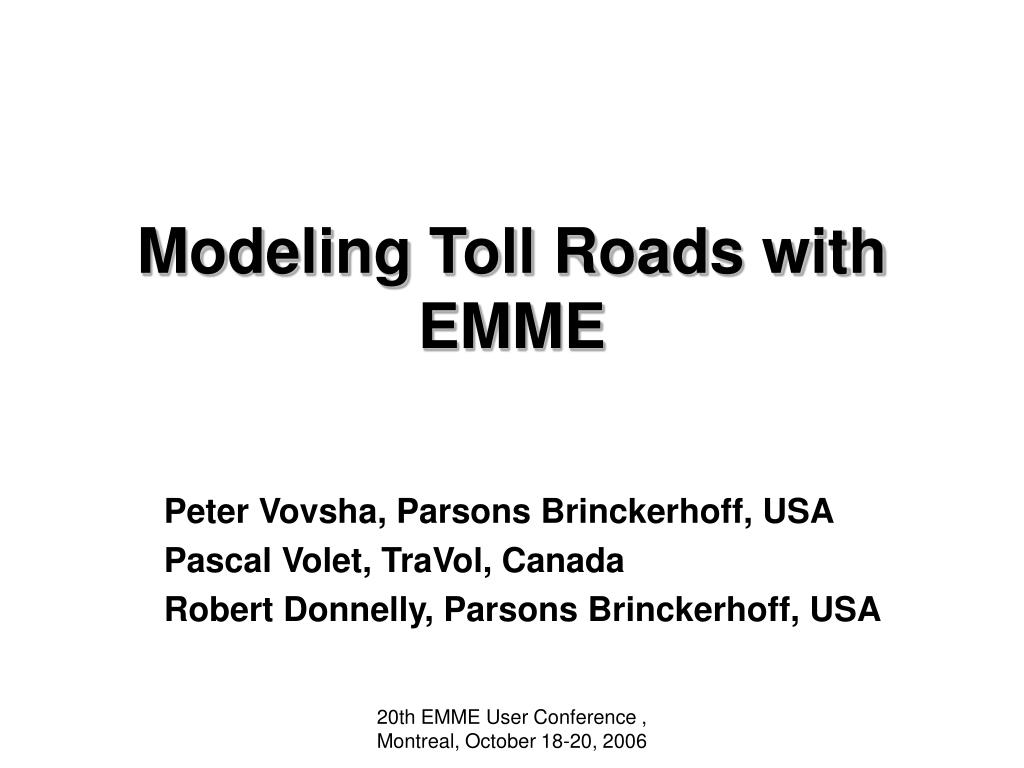 modeling toll roads with emme l.