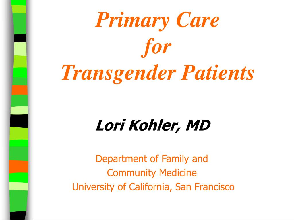 primary care for transgender patients l.