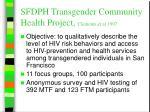 sfdph transgender community health project clements et al 1997