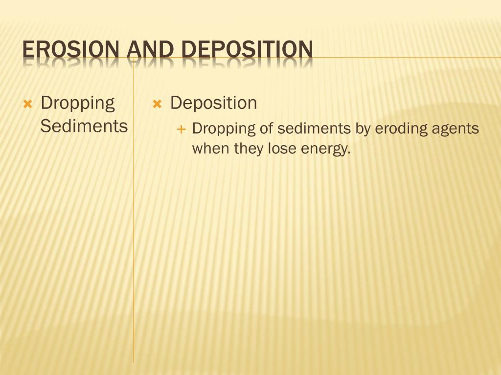 Erosion and Deposition