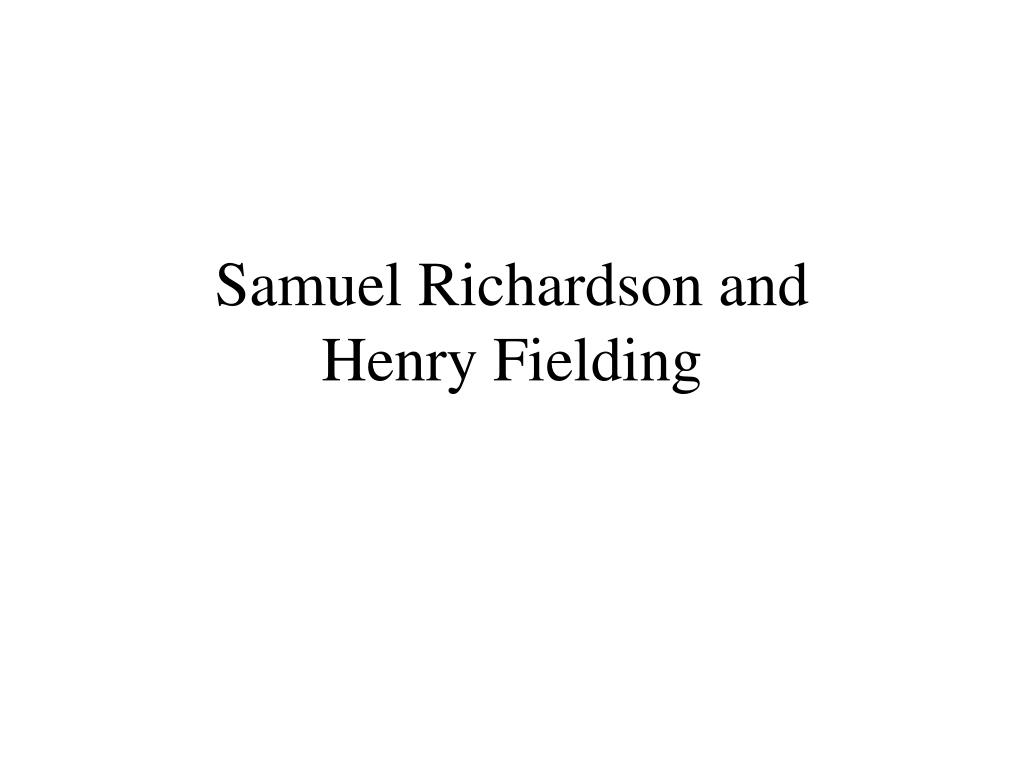 samuel richardson and henry fielding l.