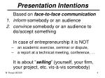 presentation intentions