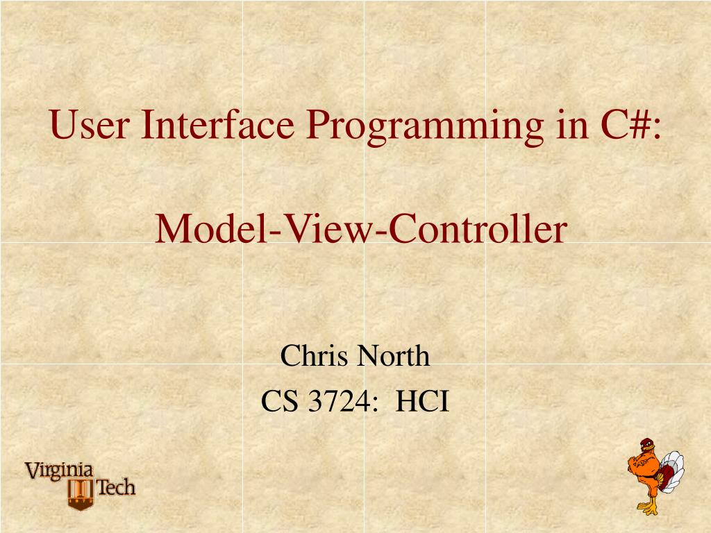 user interface programming in c model view controller