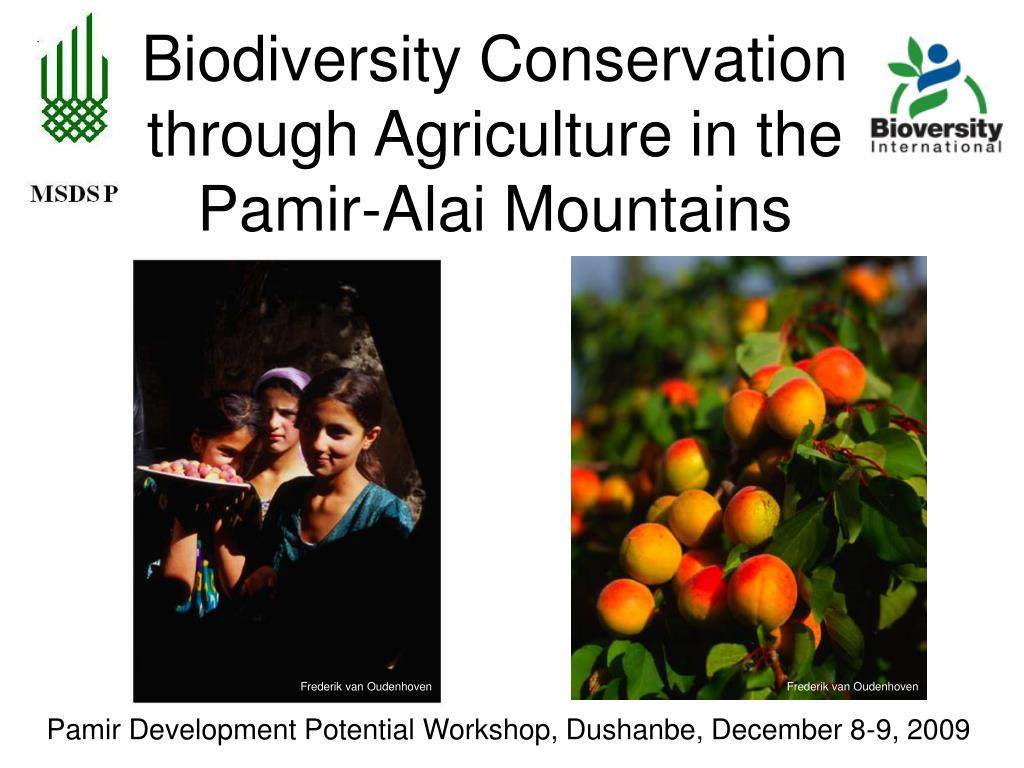 Biodiversity Conservation through Agriculture in the Pamir-Alai Mountains