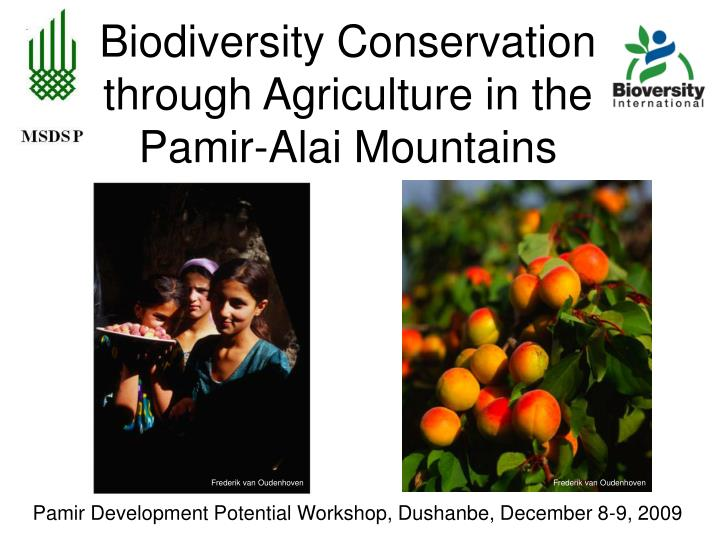 Biodiversity conservation through agriculture in the pamir alai mountains