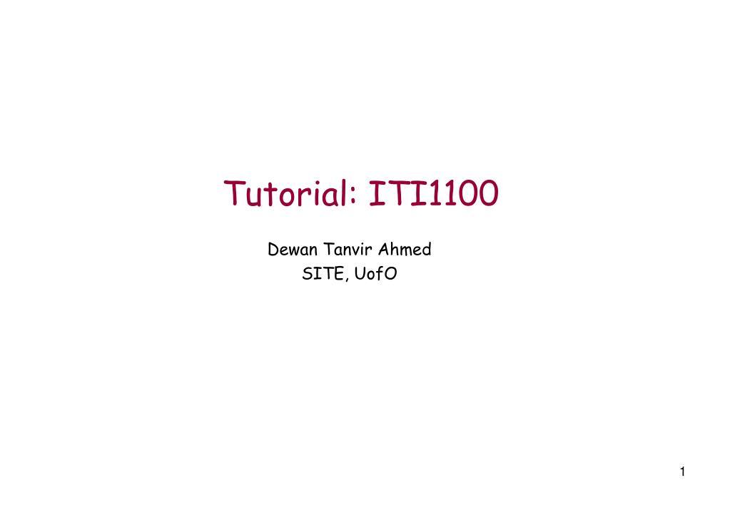 tutorial iti1100 l.