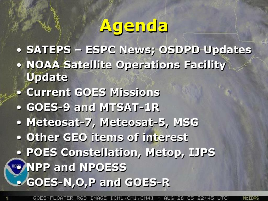 SATEPS – ESPC News; OSDPD Updates