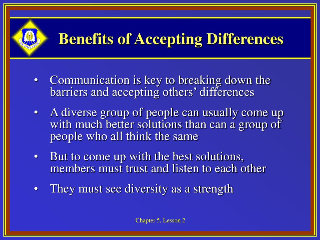 Benefits of Accepting Differences