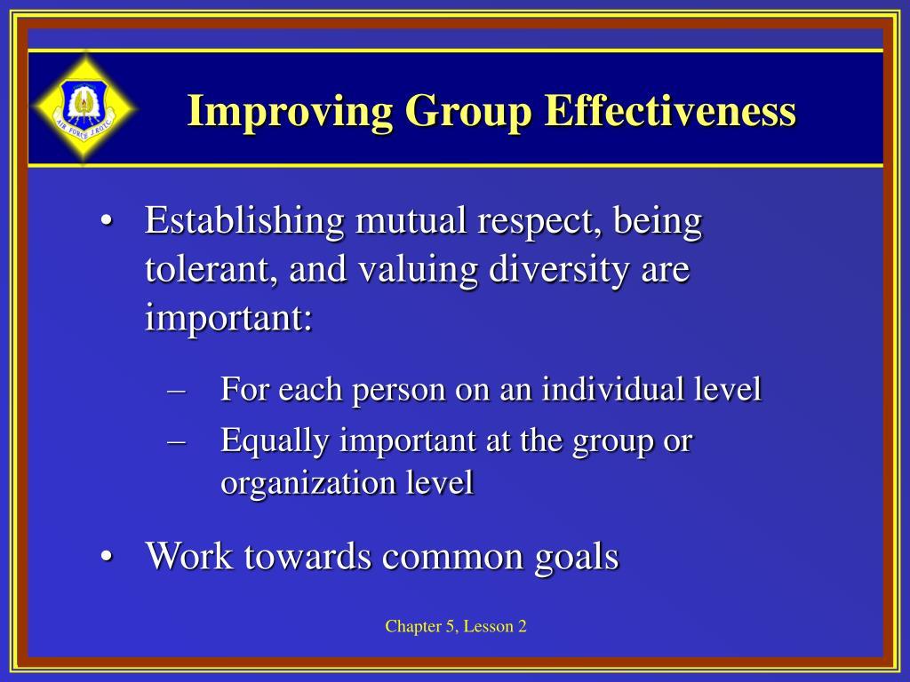 Improving Group Effectiveness
