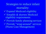 strategies to reduce infant mortality