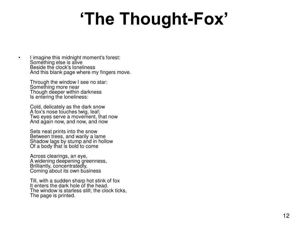 'The Thought-Fox'