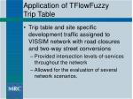 application of tflowfuzzy trip table