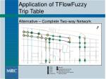 application of tflowfuzzy trip table21