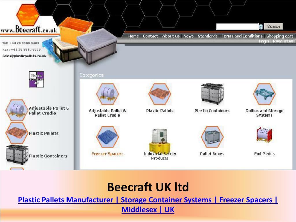 beecraft uk ltd plastic pallets manufacturer storage container systems freezer spacers middlesex uk l.