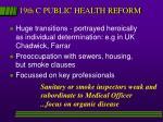 19th c public health reform