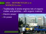 asia motorcycles as in sources lecture