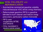 fuel volatility and reformulation