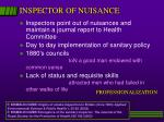 inspector of nuisance