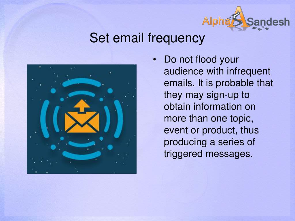 Set email frequency