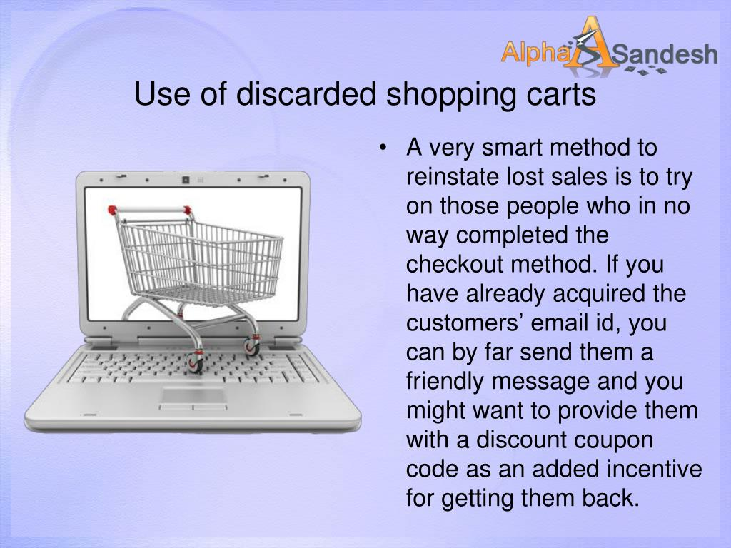 Use of discarded shopping carts