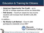 education training for citizens
