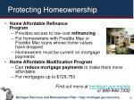 protecting homeownership