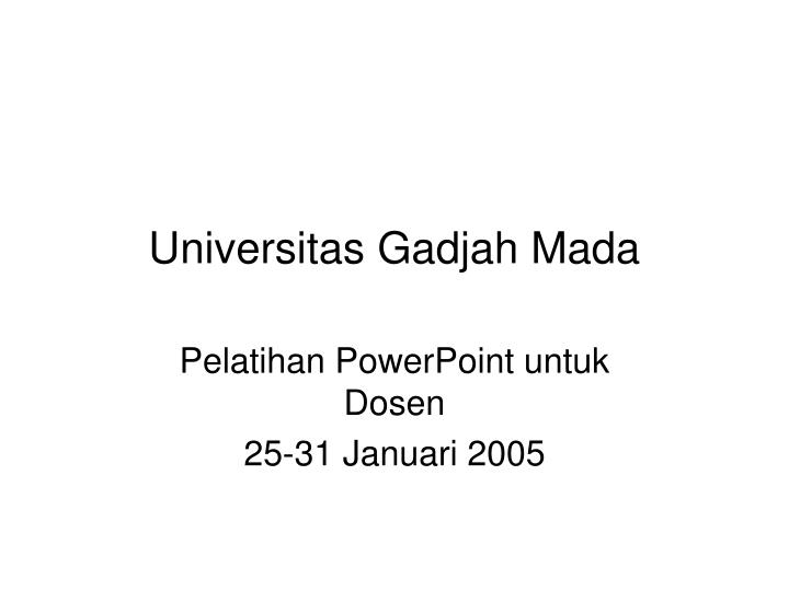 universitas gadjah mada n.
