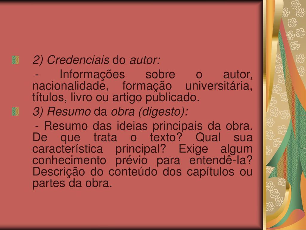 2) Credenciais