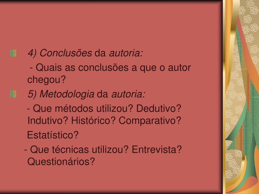 4) Conclusões