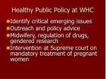 healthy public policy at whc