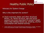 healthy public policy