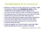 caratteristiche di un curriculum