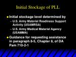 initial stockage of pll