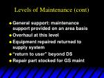 levels of maintenance cont5