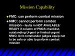 mission capability