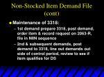 non stocked item demand file cont20