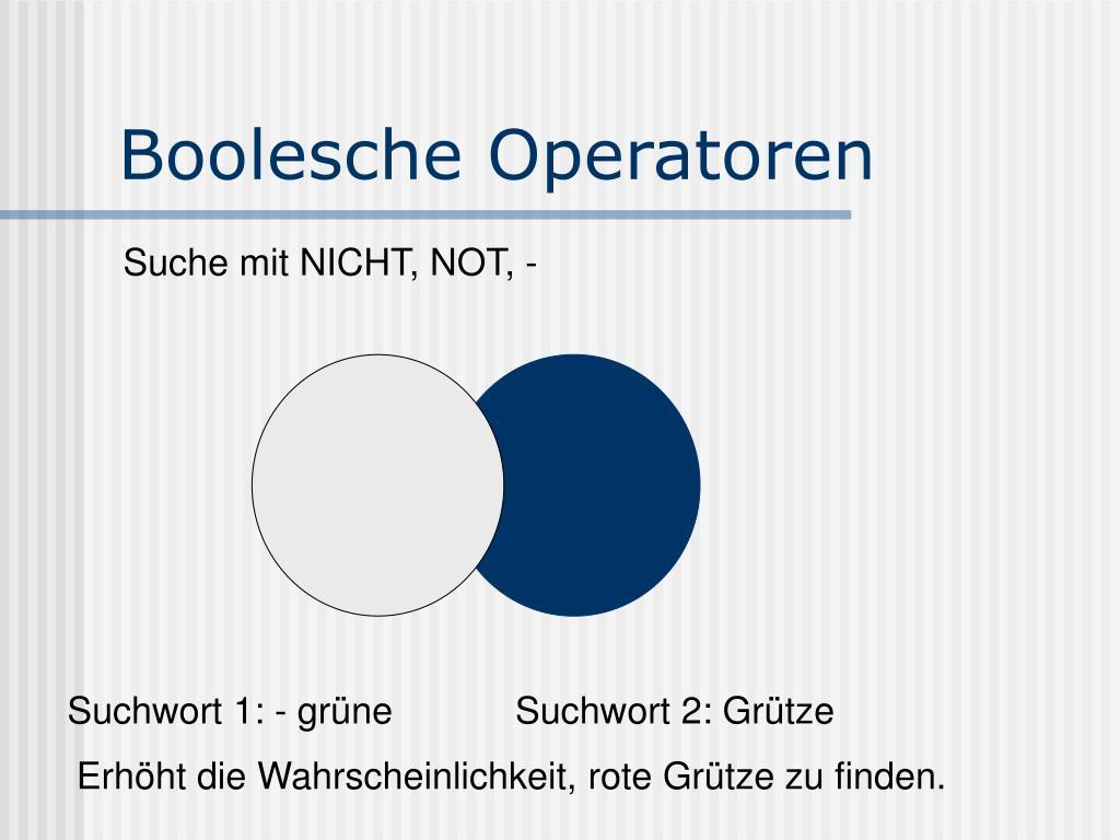 Boolesche Operatoren