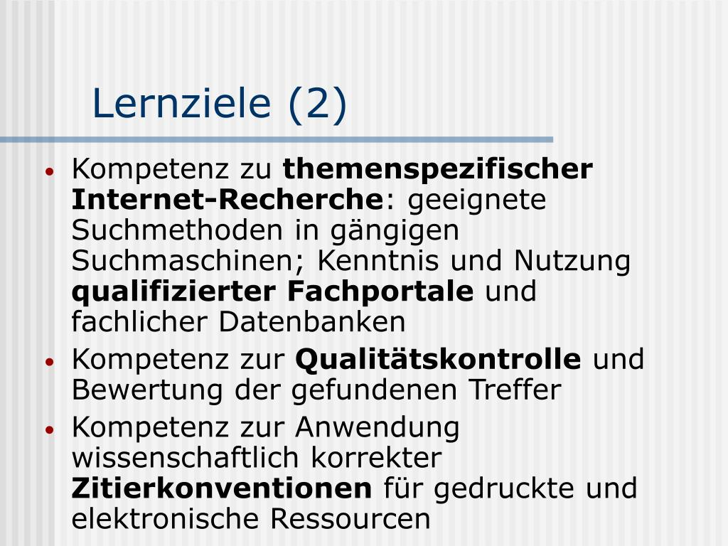 Lernziele (2)