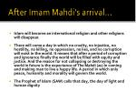 after imam mahdi s arrival