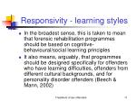responsivity learning styles