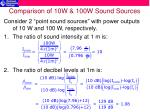 comparison of 10w 100w sound sources